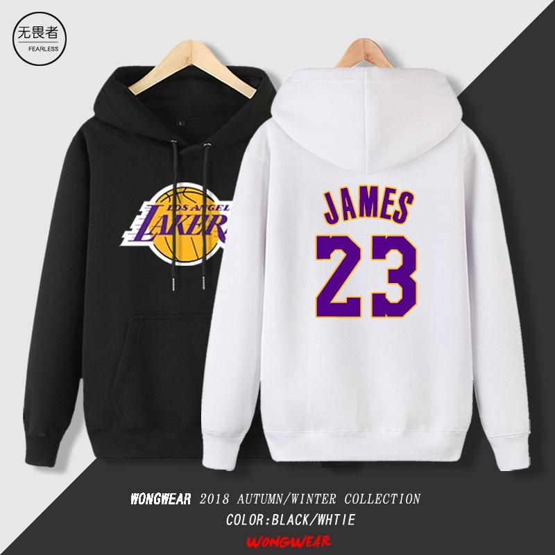 เจมส์เสื้อสเวตเตอร์แจ็คเก็ตคลุมด้วยผ้าบาสเก็ตบอลผู้ชาย Lakers Warriors Kobe Curry Student Autumn Sportswear