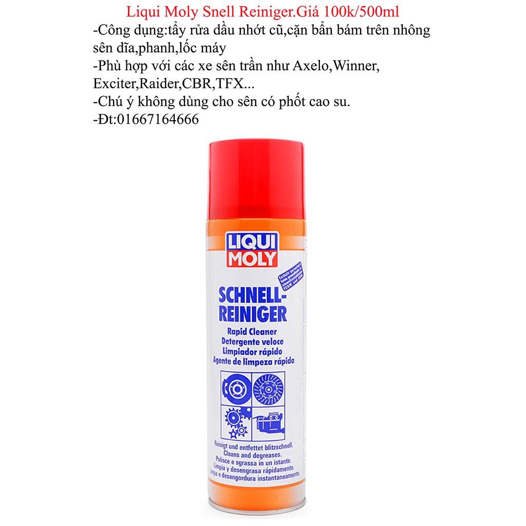 Vệ sinh nhông sên dĩa tẩy rửa dầu mỡ lốc máy Liqui Moly Snell Reiniger 500ml - 3253306 , 347532567 , 322_347532567 , 110000 , Ve-sinh-nhong-sen-dia-tay-rua-dau-mo-loc-may-Liqui-Moly-Snell-Reiniger-500ml-322_347532567 , shopee.vn , Vệ sinh nhông sên dĩa tẩy rửa dầu mỡ lốc máy Liqui Moly Snell Reiniger 500ml