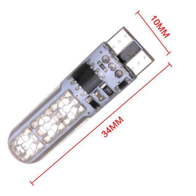 Đèn Led Kevanly RGB 5050 6SMD T10 W5W Bằng Silicon 12V Kèm Bộ Điều Khiển Từ Xa Gắn Trên Xe Ô Tô