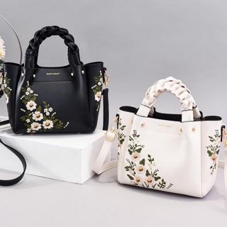 Túi nữ trung niên thêu hoa