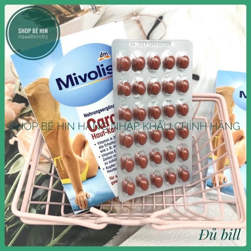 (Bill Đức,Date: 07/2023) Viên uống chống nắng Mivolis Carotin Haut-Kapseln bảo vệ làn da chống nắng từ bên trong
