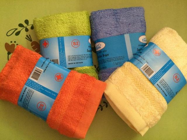 Combo 6 khăn mặt sợi tre Việt mỹ 29x47cm