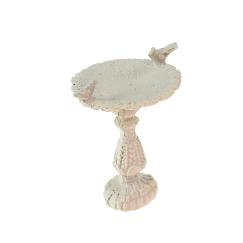 [BEW] 1:12 Dolls House Miniature Fairy Garden Furniture Resin Bird Bath Fountain Decor [OL]