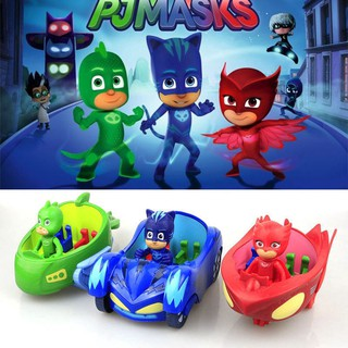 PJ Masks Catboy Owlette Gekko With Car Action Figures Toys