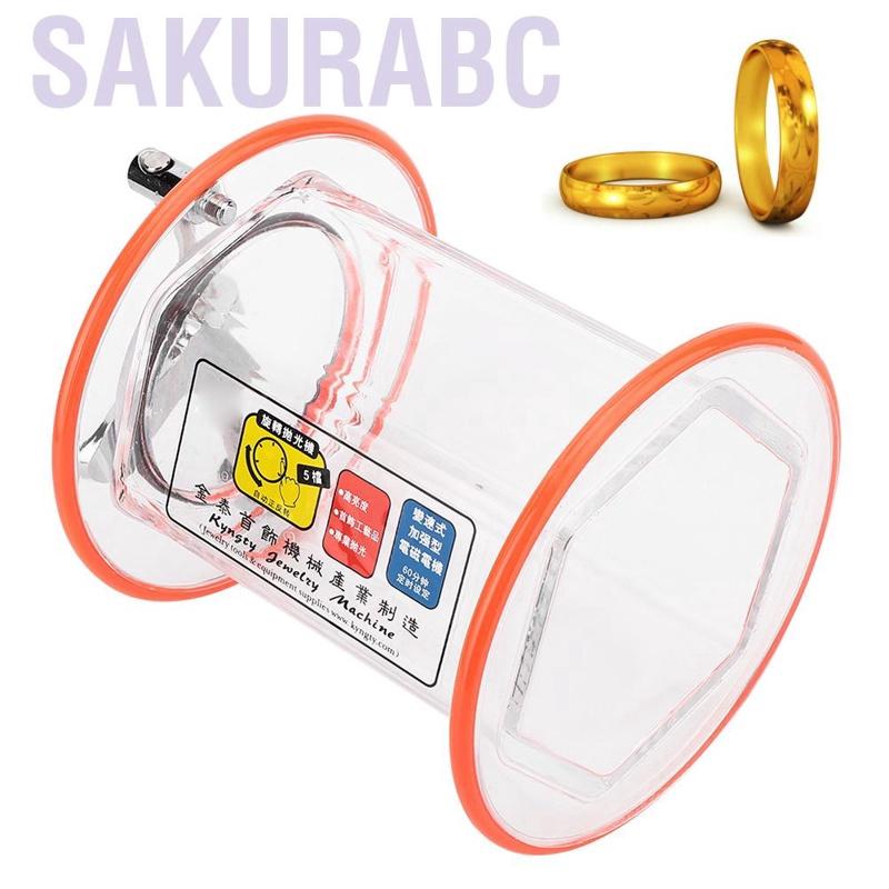 Sakurabc Pro ST-2000 Rolling Drum Rotary Polisher Bucket Jewelry Polishing Machine Jewellery Tools ForJewelry Timin