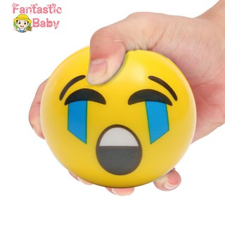 BABY Fashion Face Expression Squeeze Ball PU Hand Wrist Exercise Stress Relief Toys