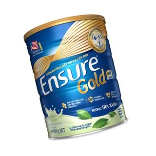 Hình ảnh Sữa bột Ensure Gold Trà xanh 850g tặng Bình thủy tinh-5