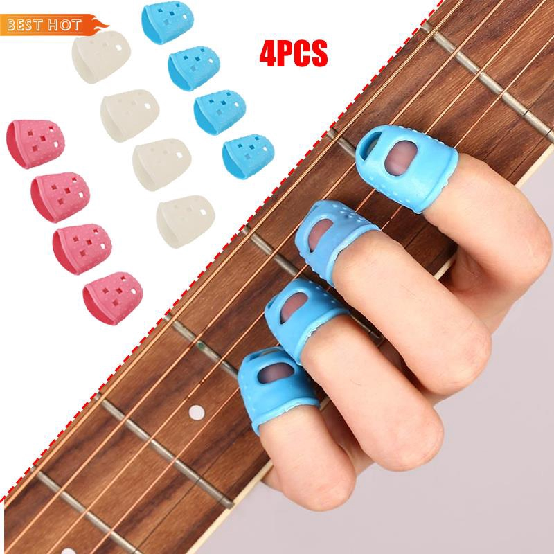 ✿ Silica Gel Guitar Fingertip Protector Silicone