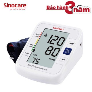 Máy đo huyết áp bắp tay có giọng nói Sinocare Sinoheart BA-801 Công ngh thumbnail