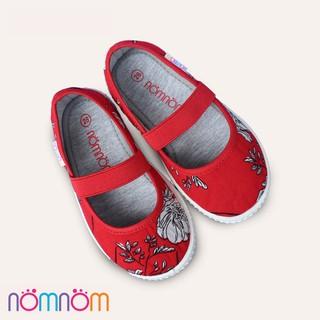 Giày búp bê cho bé gái quai chun NomNom EPG1913 màu Đỏ
