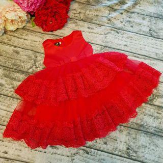 Váy công chúa 2 tầng cho bé hàng thiết kế chuẩn đường kim mũi chỉ nhé các mẹ. Cho bé từ 8_28kg. Size 1_10 tuổi