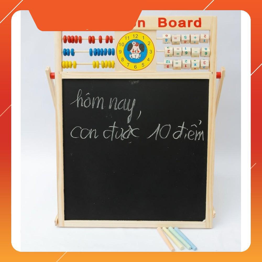 [SALE SẬP SÀN] Bảng từ 2 mặt education Board và bộ số kèm bảng gỗ có núm phương tiện | HÀNG MỚI