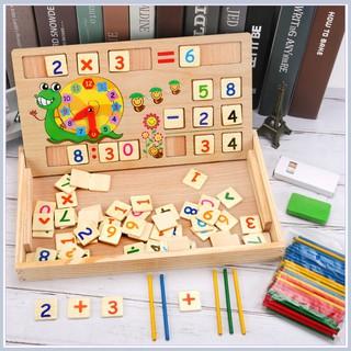 Hot_ Bảng gỗ toán học thông minh phát triển trí tuệ cho bé _Mon