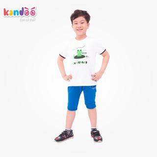 Áo T-shirt bé trai KANDOO, chất liệu cotton cao cấp mềm mịn, thoáng mát, an toàn cho bé - DBTS1726