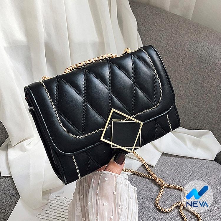 (SIÊU HOT) Túi đeo chéo nữ chỉ nổi style Hàn quốc hottrend NEVA746