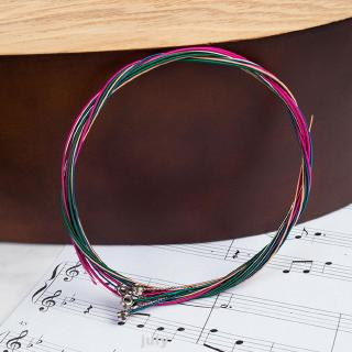 6pcs/set Accessories Acoustic Colorful Electric Bass Folk Light Gauge Stable Guitar String