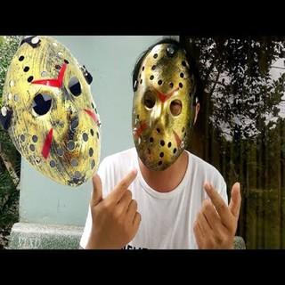 Mặt nạ Jason hóa trang Halloween leegoal Màu Vàng Lỗ tròn-Z988 (MT49) -shop SLIMEMOCHISQUISHY
