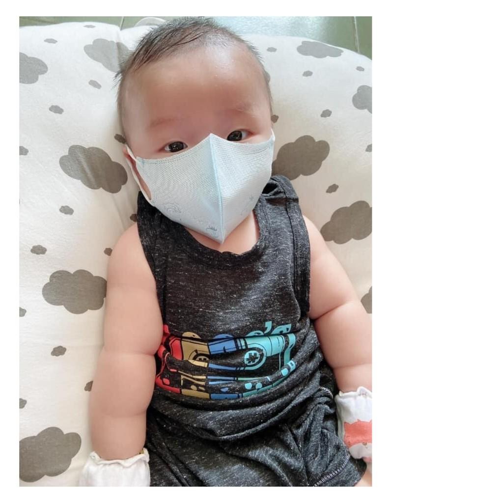 Khẩu Trang cho bé 3d kid em bé 6 tháng - 5 tuổi không có kính MommySan