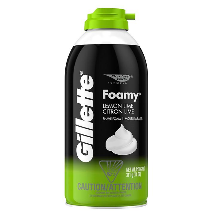 Bọt Cạo Râu Gillette Foamy Lemon Lime 311g