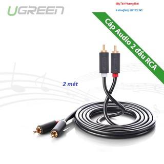 [Mã ELFLASH5 giảm 20K đơn 50K] Dây âm thanh AV 2 đầu hoa sen RCA dài 2 mét Ugreen 10518 - Bảo hành chính hãng 18 tháng