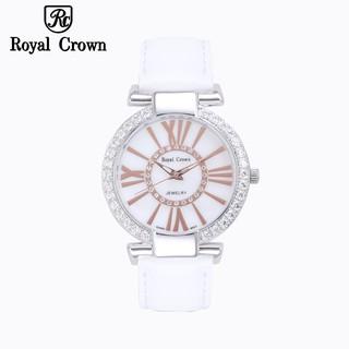 Đồng hồ nữ chính hãng Royal Crown 6116 dây da trắng thumbnail