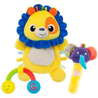 Set 3 đồ chơi cầm tay xúc xắc chíp chíp, thú bông sột soạt hình sư tử Winfun 3028 thumbnail