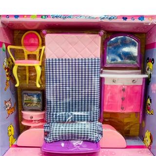 Đồ chơi ngôi nhà búp bê – phòng ngủ búp bê 928