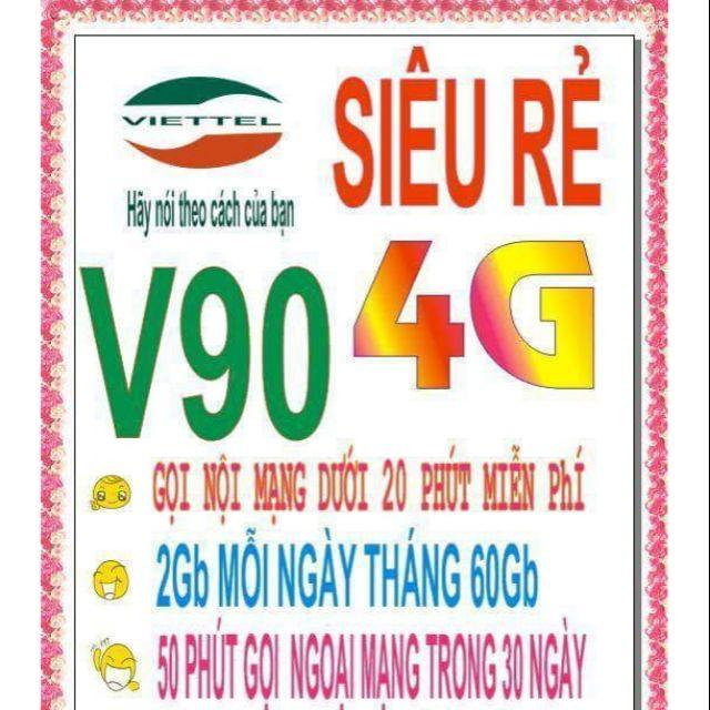 Sim Viettel 11 số -V90 nghe gọi data thỏa thích