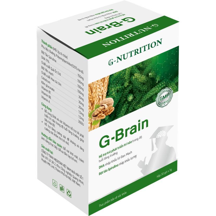{Mua 3 tặng 1+ tặng khóa học} Cốm sữa tảo non G-Brain - Hỗ trợ bổ sung DHA, các Vitamin hỗ trợ phát triển não bộ cho trẻ