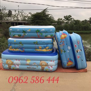 ( Sale ) Bể Bơi Phao Cho Bé – 1m8 +2m1 – 3 Tầng + tặng Kèm Bộ Keo Vá ( ẢNH THẬT )