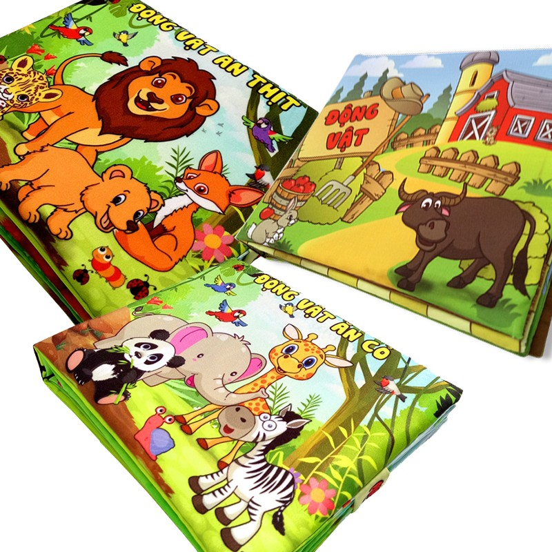 Bộ 3 sách vải Pipovietnam chủ đề động vật