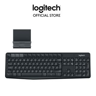 [Mã ELLOGI GIẢM 5% ĐƠN 200K]Bộ bàn phím không dây và giá đỡ LOGITECH K375s thumbnail