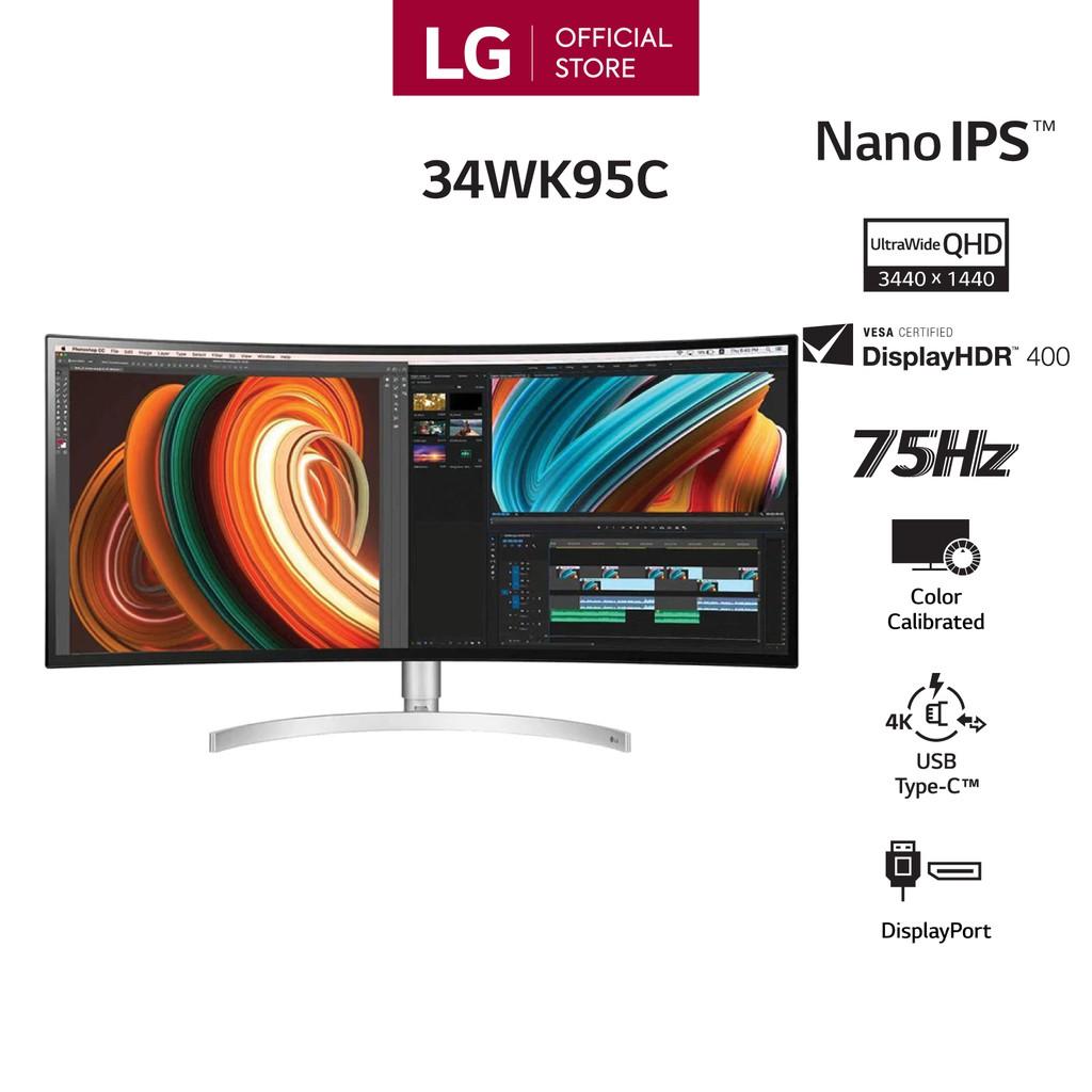 [Mã ELLIXI giảm 10% đơn từ 1TR] Màn Hình Cong LG 34WK95C UltraWide® 34'' Nano IPS QHD 75Hz 5ms - Hàng Chính Hãng