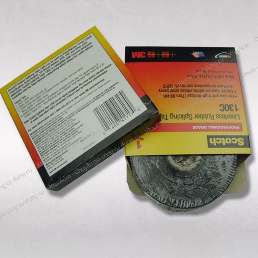 Băng keo cách điện trung thế 3M Scotch 130C 19mmx9.144mx0.762mm băng dính cách điện 69kV siêu dính, chống cháy, hở mép