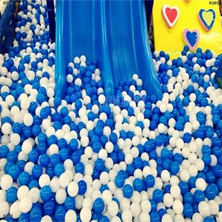 10pcs White Blue Ball Soft Plastic Ocean Ball Funny Baby Kid Swim Pit Toy 7cm [MULINHE]
