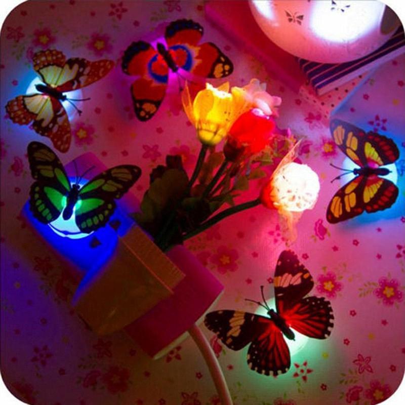 1 Đèn Led Đổi Màu Hình Bướm Trang Trí Phòng