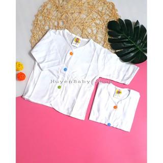 Áo sơ sinh tay dài màu trắng cúc giữa nhiều màu Hello đủ size cho bé từ sơ sinh đến 11 kg thumbnail