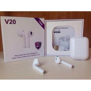 [Mã ELORDER5 giảm 10K đơn 20K] [Giảm Sốc] Tai Nghe Bluetooth Airpod V20 TWS Chính Hãng Chất Lượng - Bảo Hành 6 Tháng