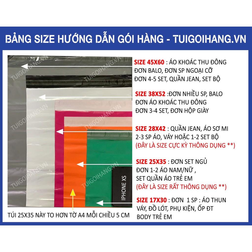 [CHẤT LƯỢNG] 10 Túi niêm phong Hồng size 25x35cm đóng gói hàng không cần băng dính giá tốt nhất Hà Nội