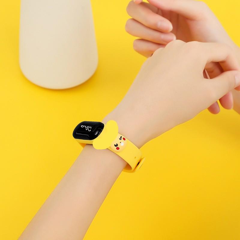 [Xả Kho] Đồng hồ LED điện tử với dây đeo họa tiết hoạt hình chống nước lặn 50M cho học sinh, trẻ em, bé, đeo tay