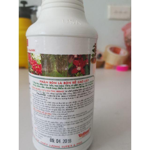 [SIEURE] Phân hữu cơ axit humic TNC HUMIC  chai 500ml hàng đẹp, phân phối chuyên nghiệp.