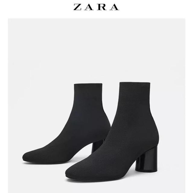 ( Giá Sập Sàn )Bốt cao cổ len Zara