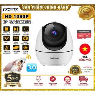 Camera WIFI SRIHOME 3.0MPX SH026 Xoay 360 Bảo hành 5 năm đổi mới trong 15 ngày sử dụng thumbnail