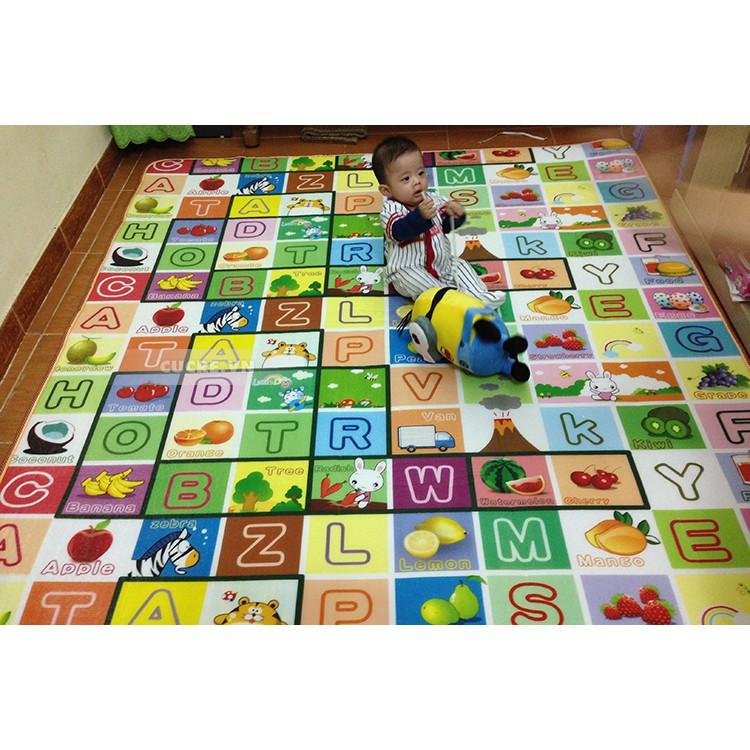Thảm chơi 2 mặt cho bé Maboshi 1m8 x 2m ( Giá Rẻ Nhất )