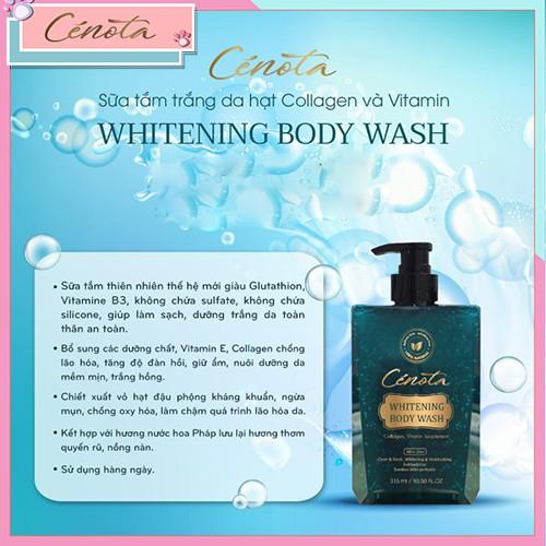Sữa tắm trắng da hạt Collagen và Vitamin Whitening Body Wash, sữa tắm dưỡng ẩm Mã C01 cece