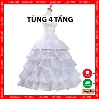 Tùng phồng váy xòe 4 tầng rộng 120cm phù hợp cho váy cỡ vừa và to khung dẻo dễ dàng gấp gọn thumbnail