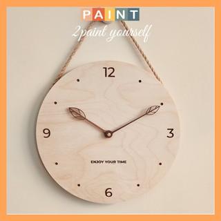 Đồng hồ gỗ treo tường cao cấp decor, trang trí Enjoy your time ( Tặng pin )