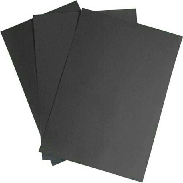 10 Giấy bìa màu đen định lượng 220