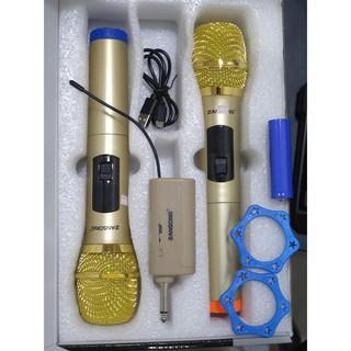 Bộ 2 micro karaoke không dây Zansong S28 kết nối uhf cho loa kéo- Hỗ trợ các thiết bị có jack cắm 3.5mm và 6.5mm bh 12th
