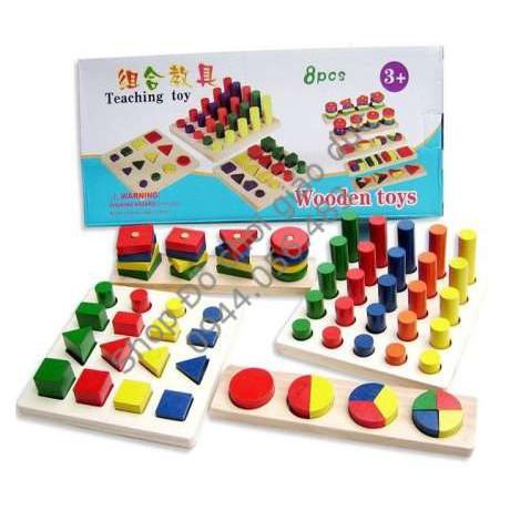 Bộ 8 món Montessori mẫu 1
